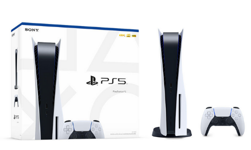 PS5 box, PlayStation 5 console and its controller